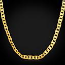18k oro cadena 4mm lleno de hombres de 18 inche (46cm)