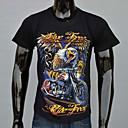 AFEC manga corta 3d águila camiseta impresa de los hombres