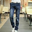 2014 nueva moda de la cremallera de altura media de los hombres volar blanqueado lavado jeans rasgados corporales combinados