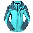 3-en-1 chaqueta cortavientos transpirable de la mujer al aire libre con un forro desmontable chaqueta de lana polar