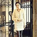 abrigo de piel de conejo bisutería maomao hilado de la señora de las mujeres