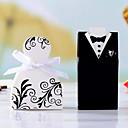 "Cherish"" Bride Groom Style Favor Box (Set of 12)"