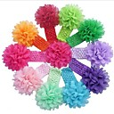 10pcs / set los niños del niño del bebé de la flor linda accesorios headwear banda de pelo de la venda