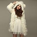 Beier color sólido de manga larga con capucha chaqueta de punto de la mujer