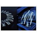 100pcs puntas de las uñas medio cubierta de acrílico francés transparentes para pintar las decoraciones del arte del clavo