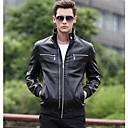 abrigo de cuero nuevo diseño de la moda masculina