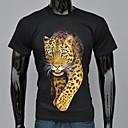 AFEC manga corta 3d leopardo camiseta impresa de los hombres