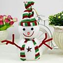 adornos navideños cuelgan adornos muñeco de nieve (juego de 2)
