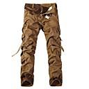 bolsillos de múltiples hombres lavados pantalones cargo algodón ocasional