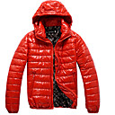causales de moda cubierta brillante rayas de algodón de los hombres senleisi capa encapuchada