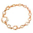 brazalete de diamantes de impresión de oro de la moda de las mujeres de la margarita