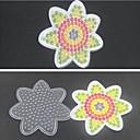 1pcs plantilla flor tablero claro para Hama Beads 5mm Perler Granos GRANOS fusibles