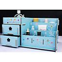 1pcs caja de almacenamiento de maquillaje misceláneas de escritorio de madera
