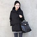 abrigo de invierno de algodón larga con capucha gruesa de Belai mujeres 62