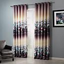 blackout ensueño floral racimos cortina (dos paneles)