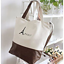 Womens Tower Printed Shoulder Bags Casual Canvas Handbags