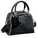 Womens Classic Shoulder Patent Leather Bag Handbag Messenger