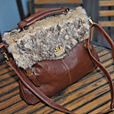 yamp;bolsa de piel de conejo c moda