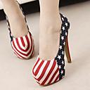 impresión floral zapatos de tacón de aguja de las mujeres lolid