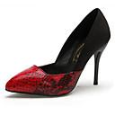 Vivian Women's Pointed Toe Splicing Stiletto Heels