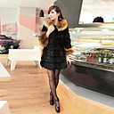 abrigo de piel elegante de la moda de invierno de las mujeres Baoli 9219