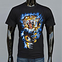 AFEC manga corta 3d tigre impreso camiseta de los hombres