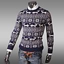 alrededor del cuello bodycon estampado floral suéter ocio de los hombres ensueño