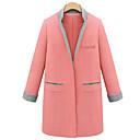 lino rlk colores surtidos soporte delgado abrigo de cuello de 5892 negro, rosa, verde