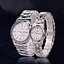 aidiman pcs reloj del cuarzo del movt de 1 pareja 'tungsteno zafiro y banda de acero inoxidable japón (colores surtidos)