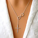 Womens Simple Cross Necklace