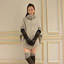 abrigos de manga larga de la manga del batwing de tweed de Belai mujeres 5126