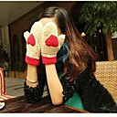 Womens The New Thicker Plush Little Snowflake Deer Love Warm Gloves