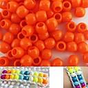 100 piezas aprox granos del potro 8x9mm naranja perlado para pulsera telar arco iris DIY accesorios