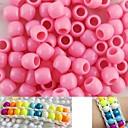 100 piezas aprox granos del potro 8x9mm rosa nacarado para pulsera telar arco iris DIY accesorios