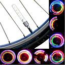 1 Par Cambiar Colores gas de aleación de aluminio de la lámpara  Plásticos Seguridad para bicicletas