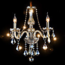 3 Lights,Mini Crystal Chandelier In Cognac Color , Glass  Crystal