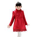 abrigo de cuello alto de lana princesa de hibaby chica (rojo)