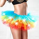 adulto iluminan neón arco iris tutú multicolor de nightwomen de eve