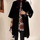 abrigo de lana del collar del soporte de las mujeres Belai 995 #