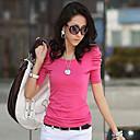 camisa de manga larga de color sólido de la moda