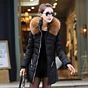 cuello de piel de moda yibeier coat_43 manga larga