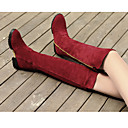 Anxy Women's Ball Peen Dull Polish Low Heel High Boot