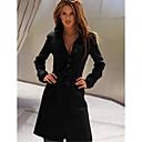 Beier color sólido chaqueta de punto de manga larga de las mujeres
