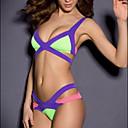 de coincidencia de color del vendaje sexy bikinis push-up de la mujer keroit