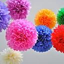 10 piezas de 4 pulgadas la decoración del partido de la flor poms artesanías de papel tejido pom (colores surtidos)
