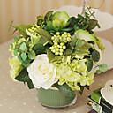 9H Green Forest Style Tabletop Flower Bouquet Arrangement (Type A)