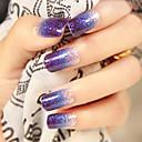 12pcs blining brillo color púrpura gradual 3d uñas de arte pegatinas