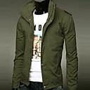 URUN Mens Korean Styl Slim Fit Long Sleeve Coat