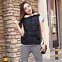 aywn algodón terciopelo más delgada capa del chaleco de las mujeres