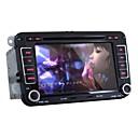 4.2.2 7 '' 2 din reproductor de DVD del coche del androide feliz para volkswagen con gps, bt, rds, wifi, pantalla táctil capacitiva canbus